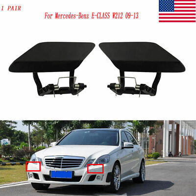 2x Front Headlight Washer Spray Nozzle Cover Cap For Mercedes E-CLASS W212 09-13