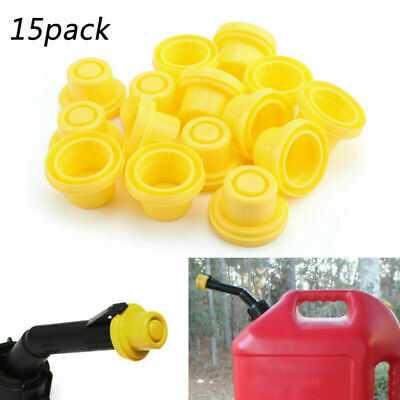 15x Replacement Yellow Spout Cap Top For Fuel Gas Can Blitz 900302 900092 Tc