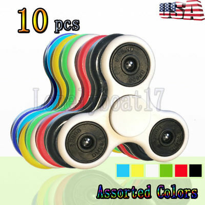10 x Pack Hand Finger Spinner Toy Fidget Tri Focus Stress Gyro Wholesale of Lot