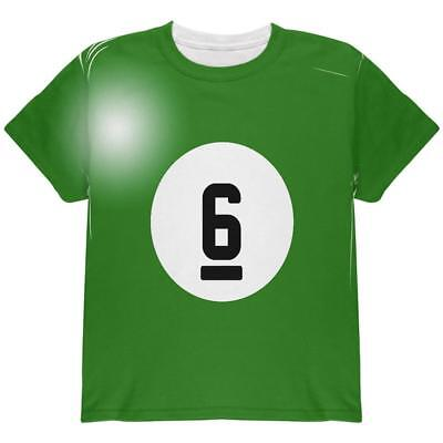 Halloween Billiard Pool Ball Six Costume Youth T Shirt - Pool Halloween