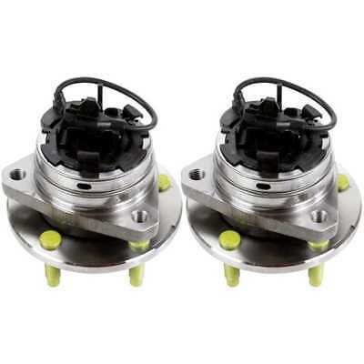 2 Front Wheel Hub Bearings For 04 12 Cobalt Malibu HHR G6 Aura 5 Lug Stud W ABS