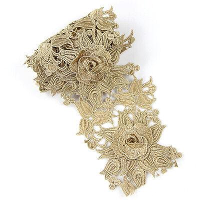 Rose Gold Trim - 1Yard Rose Gold Embroidered Lace Edge Trim Gift Ribbon Wedding Applique DIY