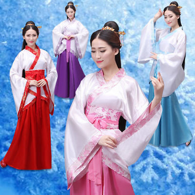 Chinese Women Costumes (Ancient Chinese Woman Girls Hanfu Tang Traditional Folk Dance Costume Tang)