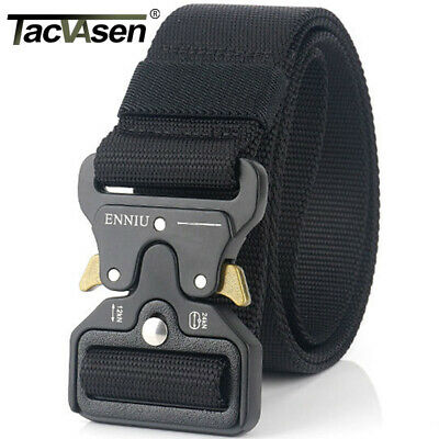 Black Utility Belt (TACVASEN Black Tactical Heavy Duty Men's Military Belt Utility Nylon Army)