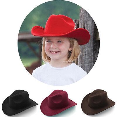 Kids Children Boys Panama Hats Cowboy Western Caps Wide Brim Sombrero Wool XS - Cowboy Hats Kids