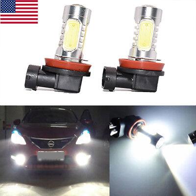 High Power H11 H8 H9 1800LM 20W SMD Xenon White LED Bulbs Driving Fog Lights 2PC