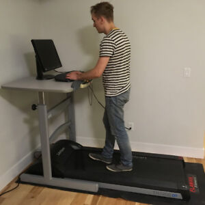 PRICED TO SELL $495 – Treadmill desk – walk while you work