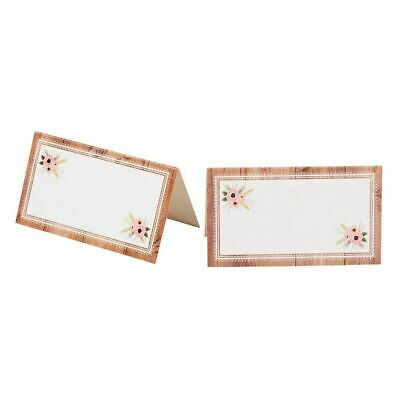 Table Cards For Weddings (100 pcs Table Place Cards Floral for Wedding Party Dinner Event Restaurant)