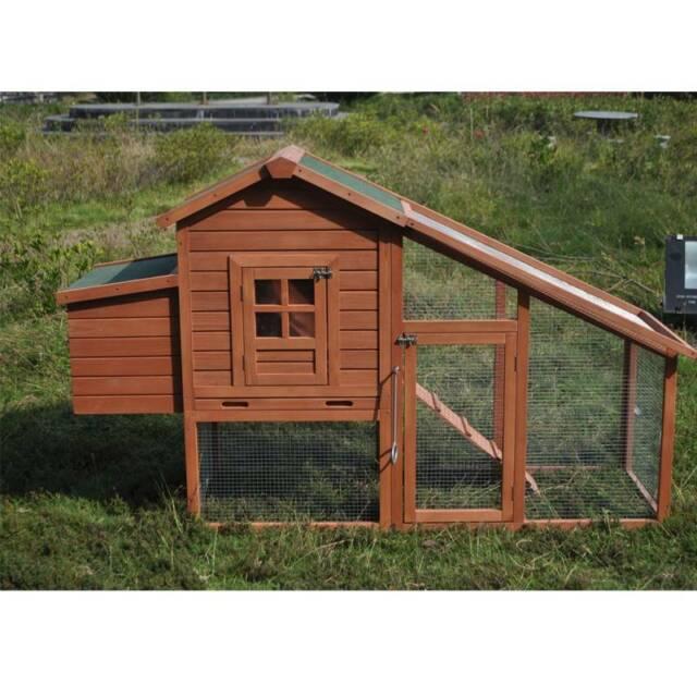 Chicken Coop Rabbit Hutch Guinea Pig Ferret Cage Nesting
