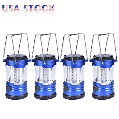 4 Pack x 12 LED Portable Lantern Outdoor Bivouac Camping Hiking Tent Lamp Light