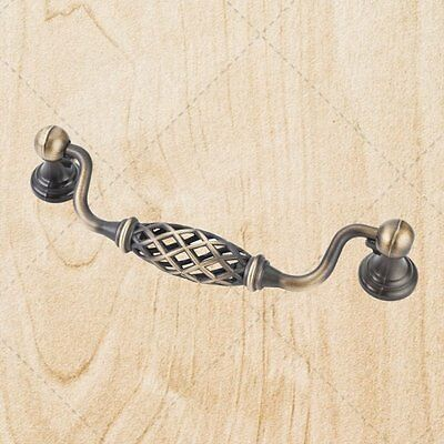 Cabinet Birdcage Pulls pL49s Brushed Antique Brass 128mm CC Handle Bail Swing (128mm Birdcage Bail Pull)