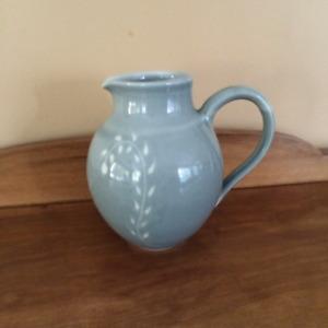 Signed hand made stone pottery jug