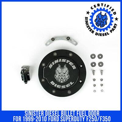 Sinister Diesel Billet Fuel Door for 1999-2010 Ford Superduty F250/F350