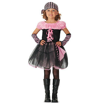 Deluxe Pink Skull Pirate Child Halloween Costume Small 4-6 Girls Dress Up - Kid Pirate Halloween Costumes