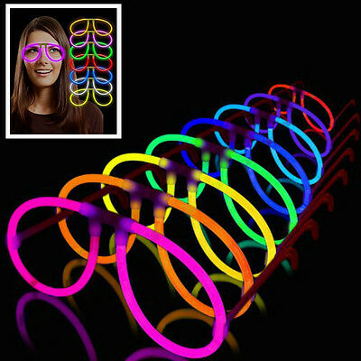12pc Aviator Glow in dark Eyeglasses Assorted Color best for party birthday rave - Glass In Glow Sticks