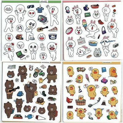 2013 New Naver Line Character Stickers 4 Model Moon James Bear Cony 13100