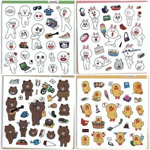 2013 NEW NAVER LINE CHARACTER STICKERS 4 MODEL-MOON/JAMES ...