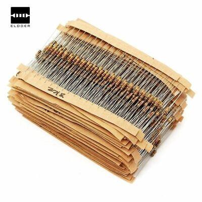 1500pcs 14w Power Carbon Film Resistors Assorted Kit 75values 1 Ohm 10m Ohm