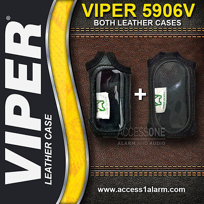 Viper 5906V Protective LEATHER REMOTE CONTROL CASES For Both Remotes 7654V 7944V