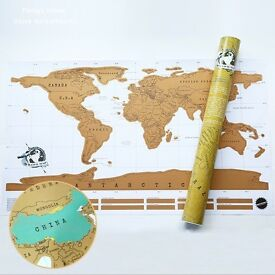 World Scratch Map - a must for any traveller, mark where you've been and where you still want to go!