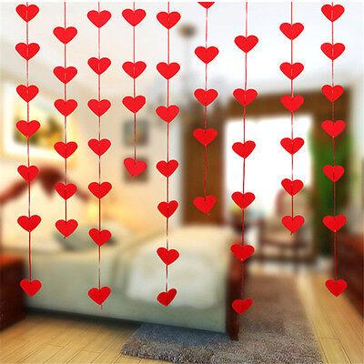 1pcs Heart Paper Garland Banner Hanging Flower Wedding Party Decoration Supplies