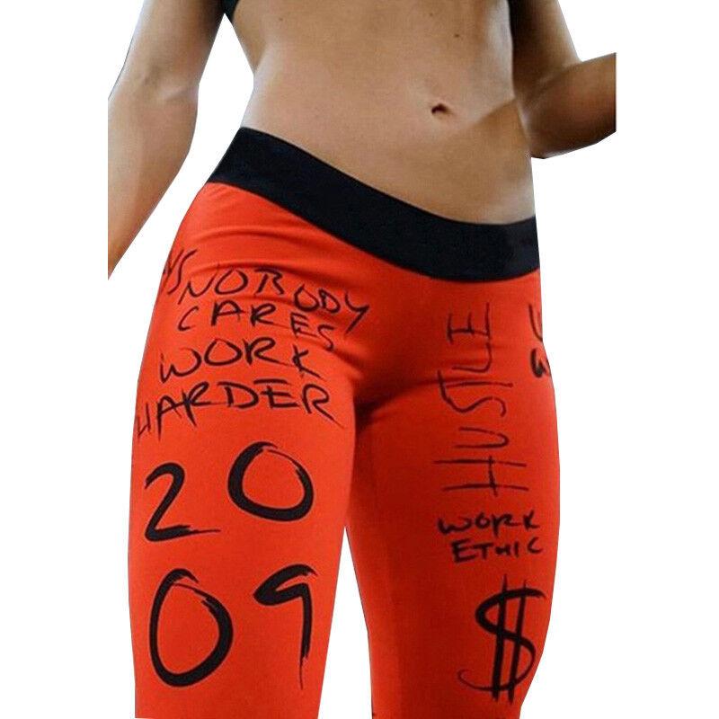 Damen High Waist Sport Yoga Hose Leggings Skinny Fitness Gym Jogginghose Leggins