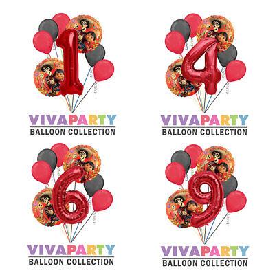 8 pc Coco Hector Round Balloon Bouquet Birthday Party Decoration](Round Balloon)