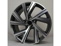 """18"""" Bergamo Style wheels and tyres suitable for a Golf, Jetta, Caddy ETC"""