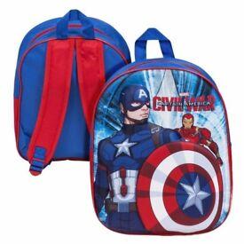 Marvel 3D Captain America Civil War Back Pack