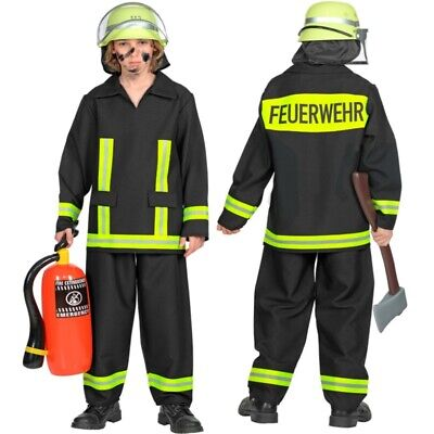Feuerwehr Kinder Kostüm FEUERWEHRMANN Uniform Karneval Fasching 104 110 116 - Feuerwehr Mann Kostüm