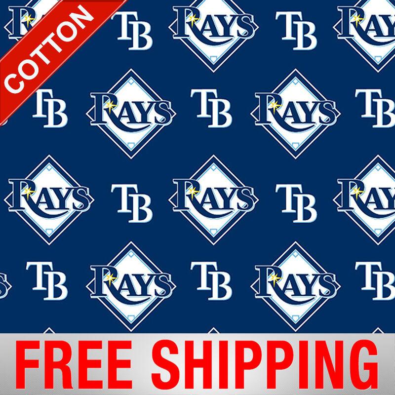 tampa bay rays mlb cotton fabric 58