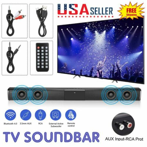 Wireless Sound Bar TV Soundbar Bluetooth Speaker Theater Ste