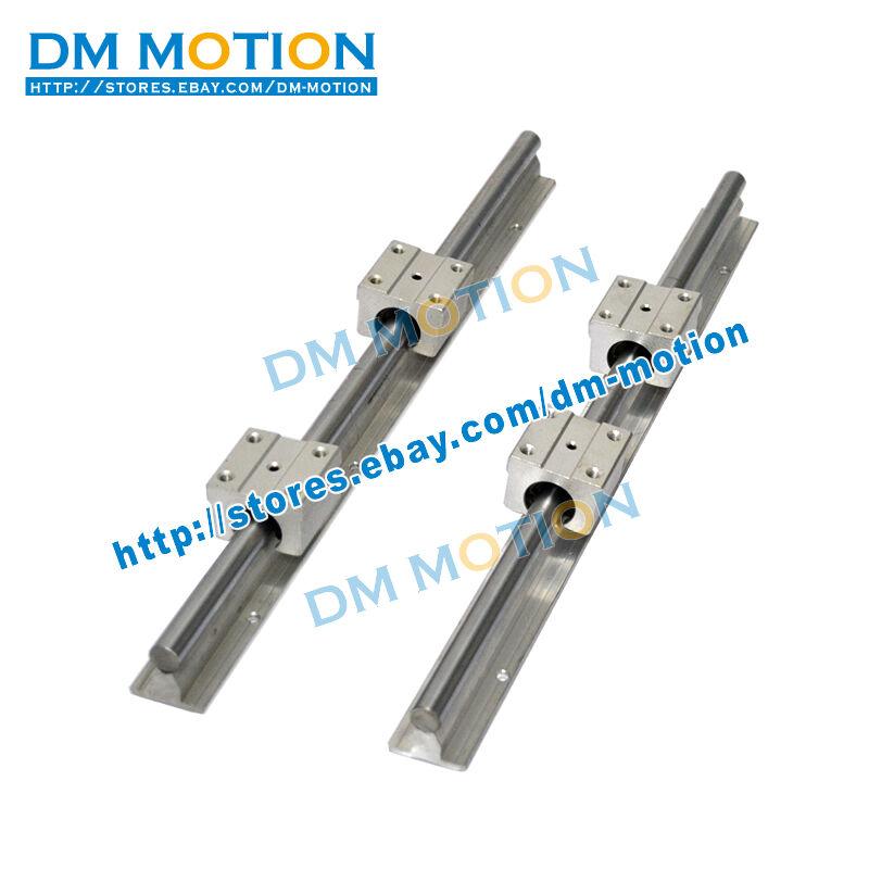 2 SBR12 L300mm rails shaft support + 4 SBR12UU Blocks linear bearing slide unit