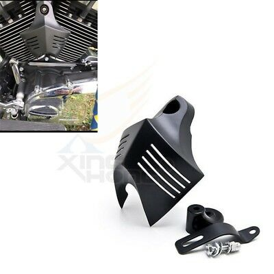 Newest Horn Cover V-Shield Custom Blk  For Harley Big Twins Stock Cowbell 92-13