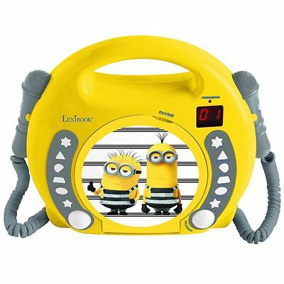 DESPICABLE ME MINIONS LEXIBOOK CD PLAYER WITH MICROPHONES & HANDLE BOYS GIRLS