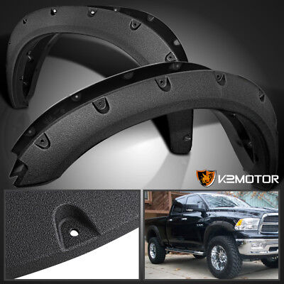 Rugged Textured 2009-2017 Dodge Ram 1500 Pocket Rivet Bolt On Fender Flares