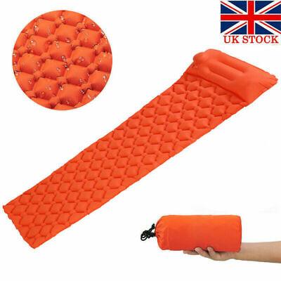 Ultralight Inflatable Sleeping Mat Camping Air Pad Roll Bed Mattress Pad Outdoor