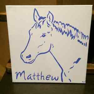 Horse painting by Melanie Bailey Creations for Matthew