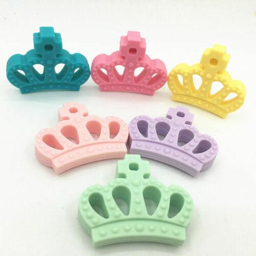 Food Grade Crown Silicone Teether Beads DIY Baby Teething BPA Free Nursing Toys