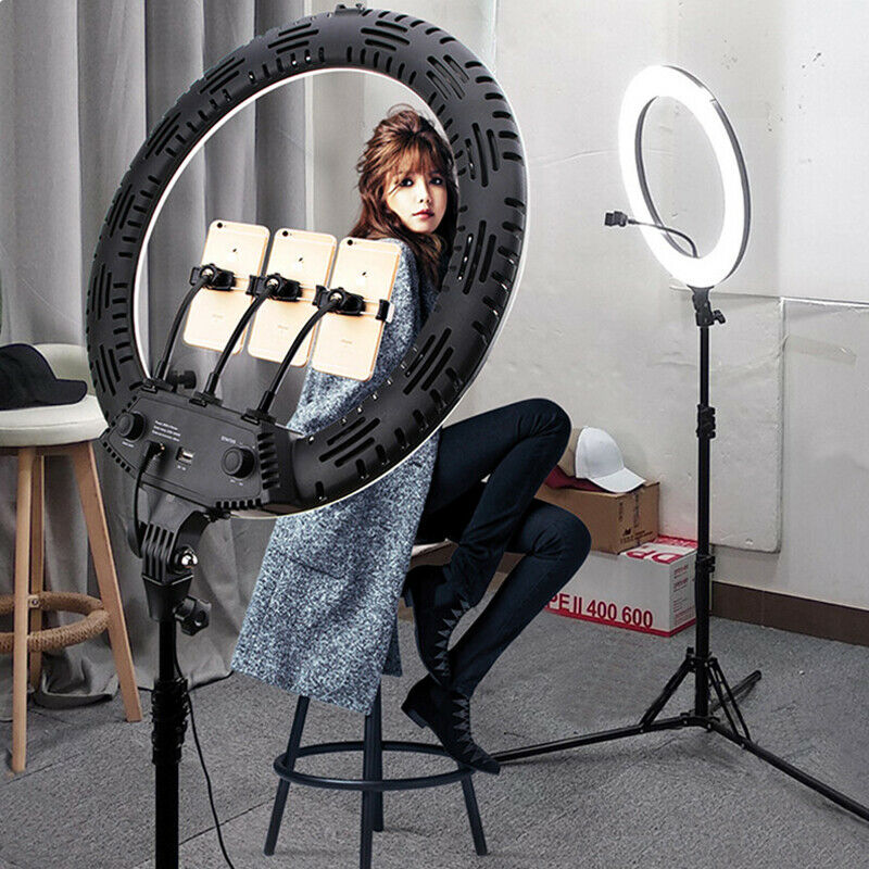 "18"" 65W Dimmable LED Ring Light Kit For Makeup Phone Camera For Youtube Tik Tok"