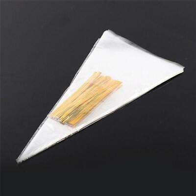 Clear Cone Bags - 50/100PCS Clear Party Sweet Twist Ties Cellophane Cone Packing Bags Cello Candy