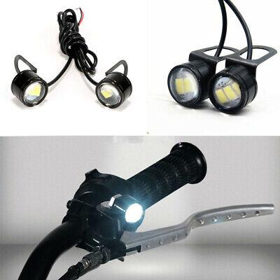 2X MOTORCYCLE DRIVING DAYTIME RUNNING LIGHT HAWKEYE EAGLE EYE LED LAMP