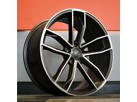 """18"""" New S5 style wheels & tyres suitable for Audi A1, VW Polo, Seat Ibiza ETC"""