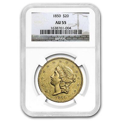 1850 $20 Liberty Gold Double Eagle AU-55 NGC - SKU#153774
