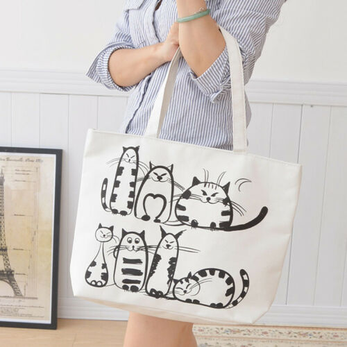 Cotton Tote Bag with Patches Applied