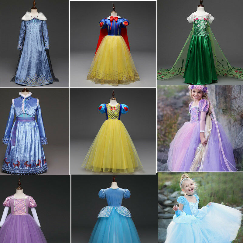 Kids Girls Princess Dress Up Fancy Costume Halloween Party Cosplay Clothes