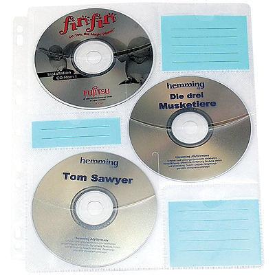 General Office CD/DVD Ringbucheinlagen 2 x 3 für 60 CD/DVD