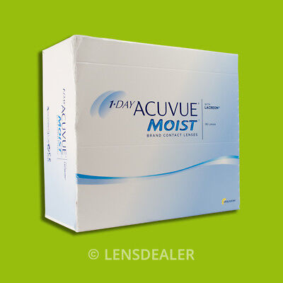 »» 1 DAY ACUVUE MOIST 1x 180 BOX JOHNSON KONTAKTLINSEN TAGESLINSEN +/- WERTE ««