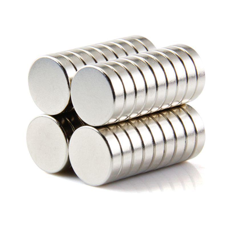 Neodym Magnete super stark Scheiben Würfel N35 N45 N50 doppelt vernickelt Scheibe - Ø 12 X 3mm