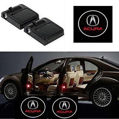 2Pcs Acura Car Door Welcome LED Lights Courtesy Projector Ghost Shadow Sticker